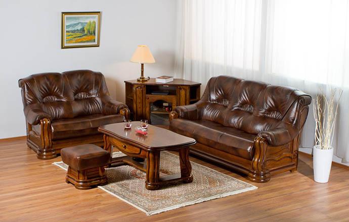 Usnjene sedežne garniture in fotelji