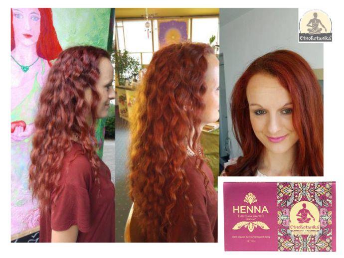 barvanje z naravnimi barvami za lase