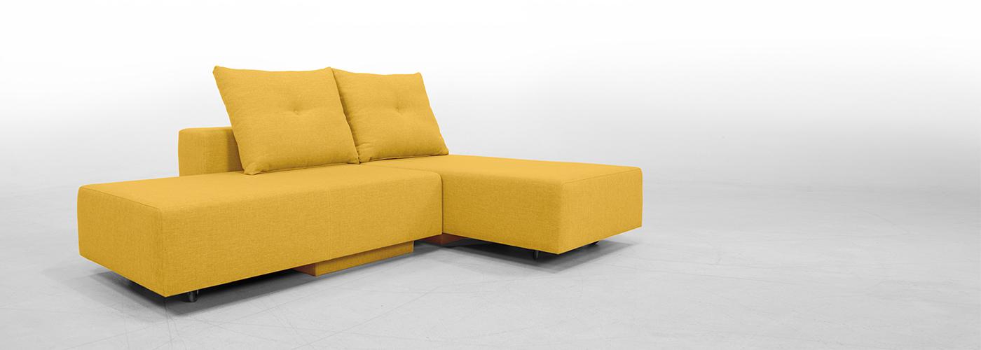 Moderne kotne sedežne garniture