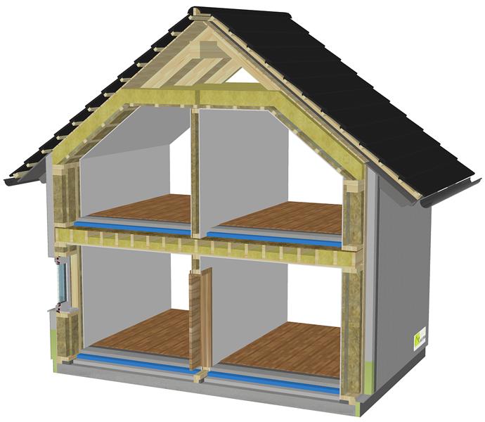 Gradnja nizkoenergijske hiše Javušnik