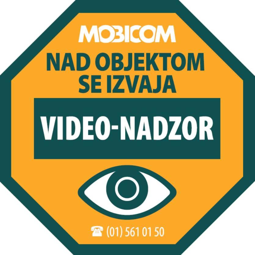 Objekt je pod video nadzornim sistemom