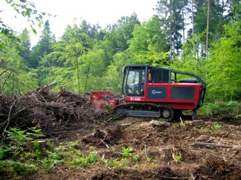 Drobilnik vej in lesa