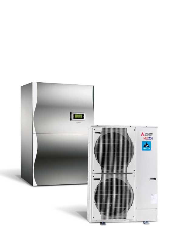 Visokotemperaturna toplotna črpalka zrak voda