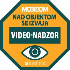 Objekt je pod video nadzorom! Poskrbite za video nadzor zaposlenih